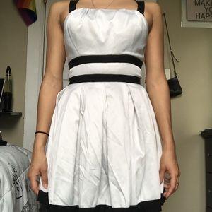 Black & white strap dress.